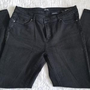 Dark Gray, flattering jeans